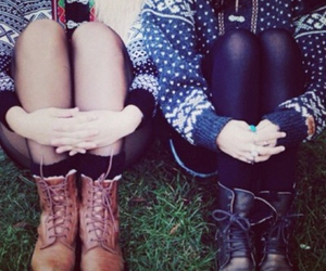 boots, sweater, and cute image