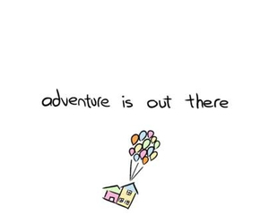 up, adventure, and balloons image