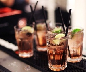 drink, bacardi, and party image
