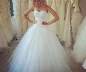 ball gown, beautiful, and in love image
