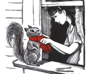 animal, drawing, and woods image