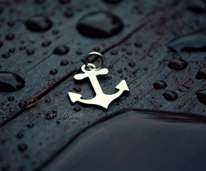 anchor, rain, and water image