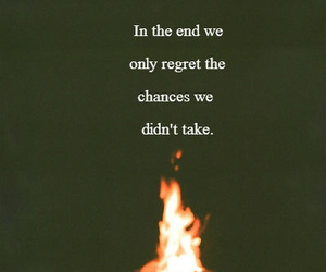 regret, quote, and chances image