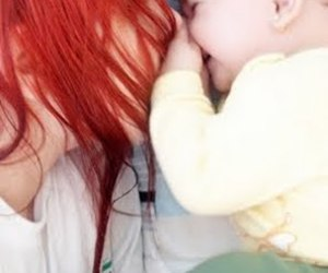 baby, hair, and red image