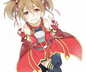 sao, silica, and sword art online image