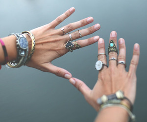 rings, hands, and bracelet image