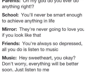 music, school, and life image