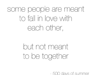 500 Days of Summer, quotes, and sad image