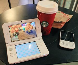 animal crossing, blackberry, and starbucks image