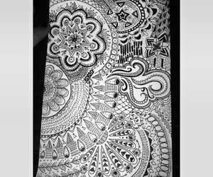 art, blackandwhite, and doodles image