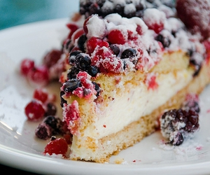cake, berries, and dessert image