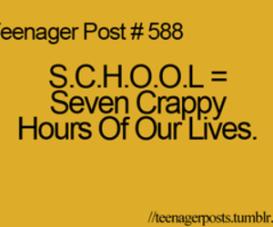 school, teenager post, and life image
