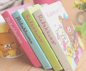 rilakkuma, book, and cute image