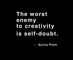 black and creativity self doubt image