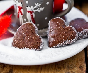 heart, chocolate, and christmas image