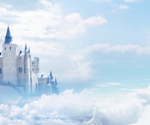 castle, clouds, and sky image
