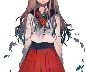 anime, girl, and school uniform image