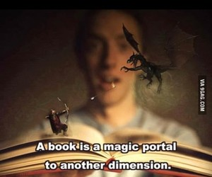 book, magical, and reading image