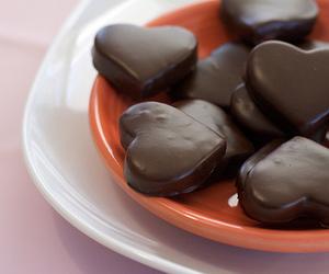 chocolate, heart, and food image