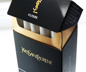 cigarette, YSL, and Yves Saint Laurent image