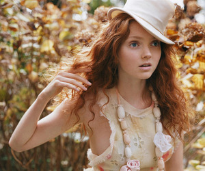 Lily Cole, model, and hat image