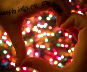 heart, light, and inspire image