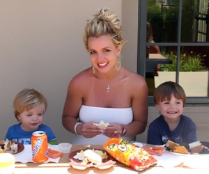britney spears, jayden james, and sean preston image