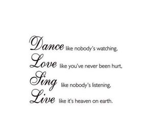 love, sing, and dance image