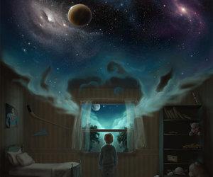 child, Dream, and night image