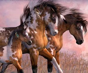 art, horses, and perfect image