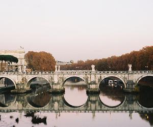 bridge, river, and rome image