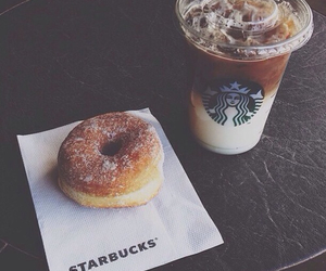 coffee, donut, and food image