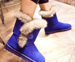 blue, shoes, and ugg image