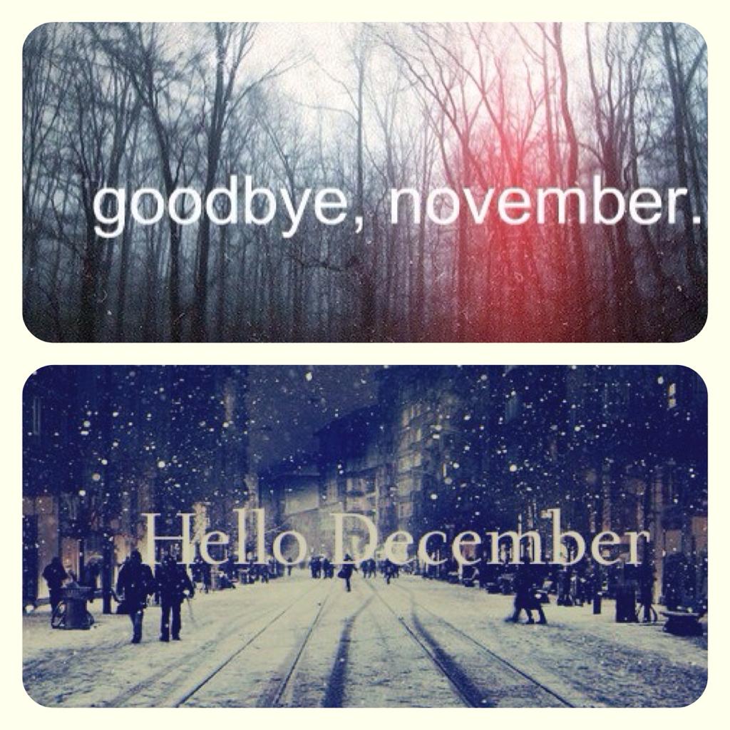Goodbye November Hello December Shared By Celine