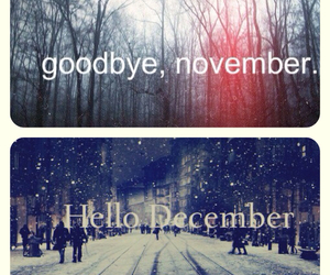 december, november, and hello image