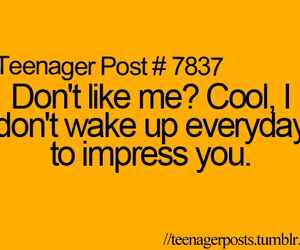 Impress, Not Pretty, and quote image