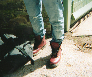 boots, boy, and jeans image