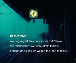quote, end, and chance image