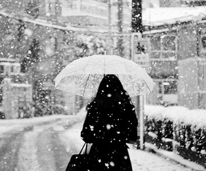 snow, girl, and winter image