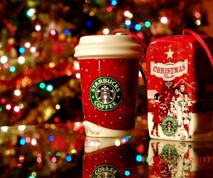 christmas, starbucks, and winter image