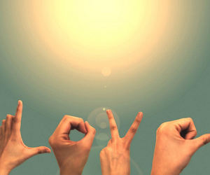 love, hands, and sun image