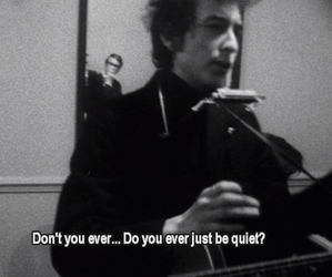 bob dylan, music, and quiet image