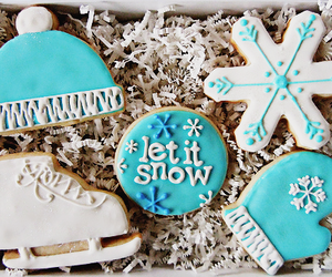 blue, tasty, and christmas image