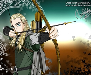anime, lord of the rings, and anime style image