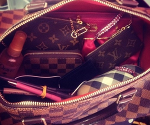 bag, girly, and louisvuitton image