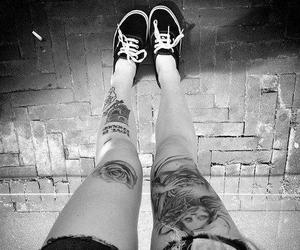 tattoo, vans, and legs image