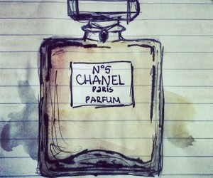 chanel, drawing, and perfume image
