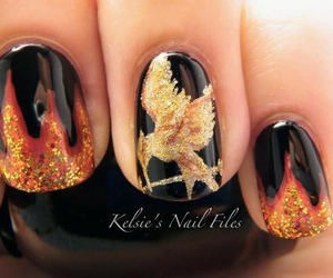 nails, hunger games, and mockingjay image