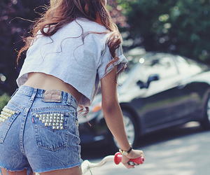 bicycle, studded short, and bike image