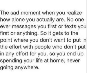 alone, sad, and effort image